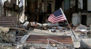A home destroyed by Hurricane Katrina (Joshua Lott/Associated Press)