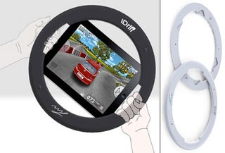 Illustration for article titled iDrift Gaming Peripheral Concept For The iPad Will Be A Reality Soon, I'm Sure