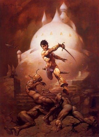 Illustration for article titled In Burroughs' final Barsoom series, we see urban Mars, synthetic flesh, and Nazis of Jupiter