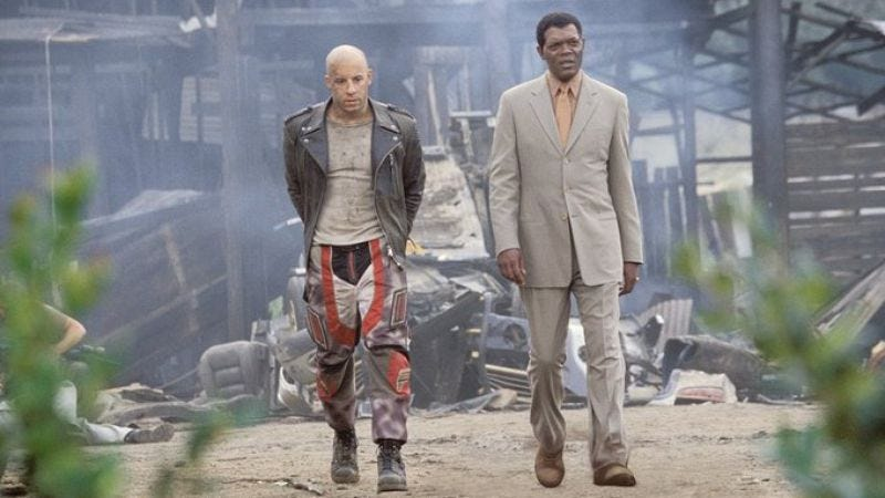 Vin Diesel and Samuel L. Jackson in xXx