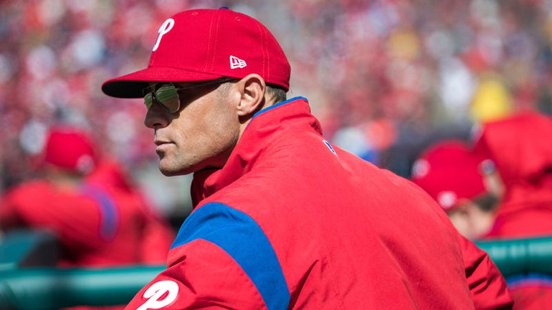 Phillies manager Gabe Kapler during yesterday's 5-0 win over the Marlins.