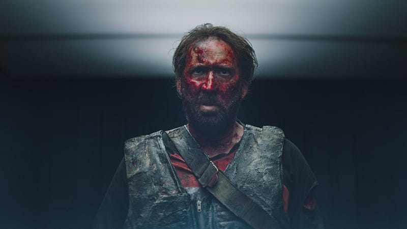 Illustration for article titled Nicolas Cage takes a chainsaw to '80s action cheese in the heavy-metal fantasia of Mandy