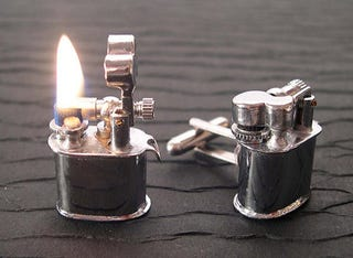 Illustration for article titled Smokin' Hot Vintage Lighter Cuff Links