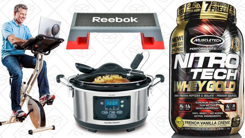 Illustration for article titled Today's Best Deals: Protein Powder, Programmable Slow Cooker, HDTV Bias Lights, and More