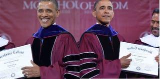 President Barack Obama at Morehouse College (Mandel Ngan/Getty Images)