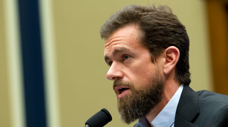 Twitter CEO Jack Dorsey testifies before the House Energy and Commerce Committee Wednesday, Sept. 5, 2018, in Washington. Lawmakers have sparred over whether a now-reversed change to auto-suggestions on Twitter had unfairly hurt Democrats or Republicans more.