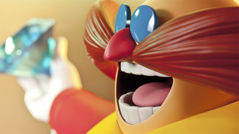 Illustration for article titled Two Foot Tall Dr. Robotnik Statue Terrorizes Blue Hedgehog And Friends