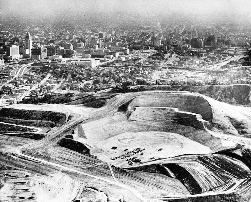 Illustration for article titled How 19 Giant Earthmovers Carved Dodger Stadium Out of a Mountain