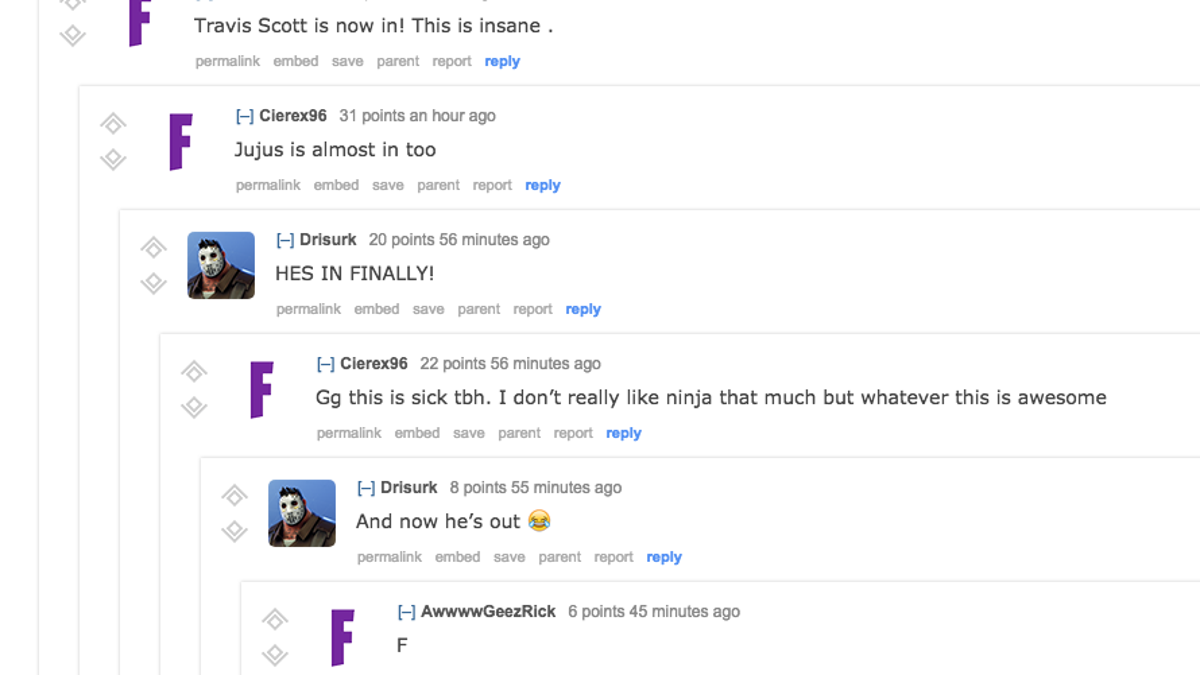 84d9914c3820 The Internet Reacts To Ninja's Fortnite Stream With Drake