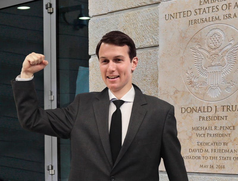 Illustration for article titled Fist-Pumping Jared Kushner Leaves Jerusalem Embassy Refreshed And Ready To Solve Next Global Crisis