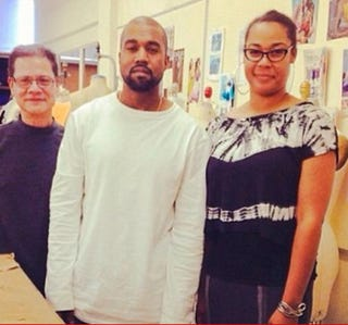 Kanye West posing with a Los Angeles Trade Technical College studentInstagram