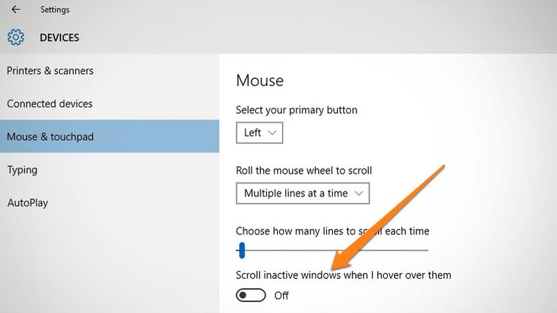 How to disable windows 10 39 s inactive window scrolling for Window scroll function