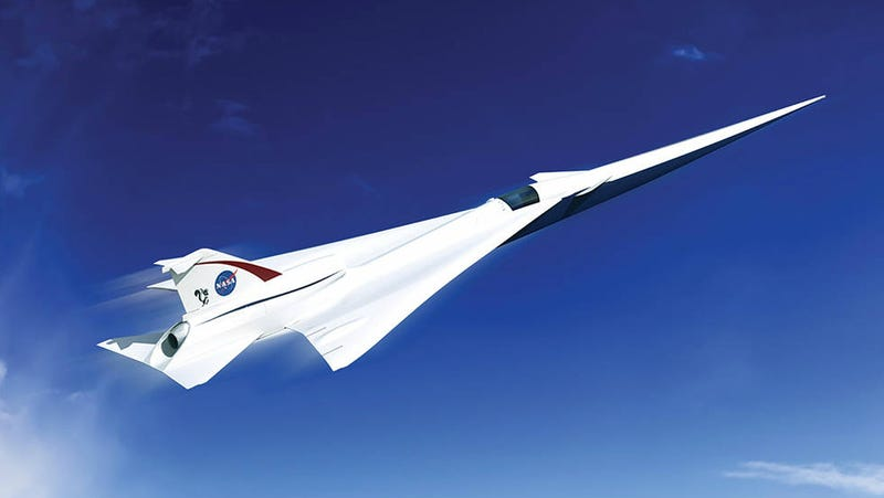 Illustration for article titled NASA's First X-plane is a Bold Step Towards the Resurrection of Supersonic Air Travel