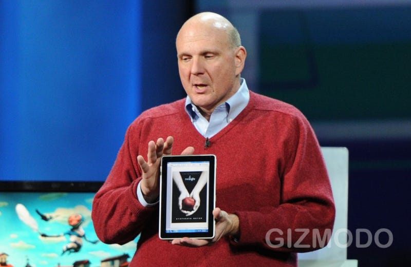 Illustration for article titled HP's Windows 7 Slate Device Revealed by Steve Ballmer