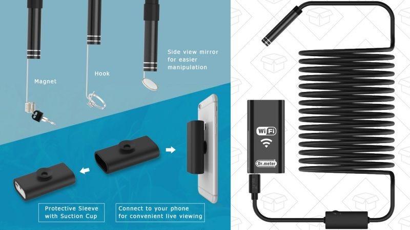 Endoscopio Wi-Fi | $20 | Amazon | Usa el código QI8OEDUV