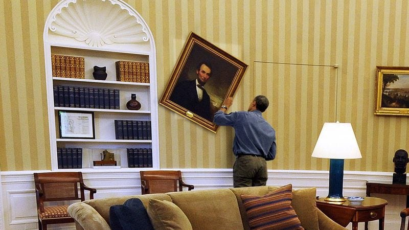 Obama Spends Another Night Searching Behind White House Paintings For Safes