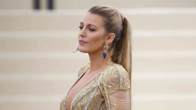 Blake Lively Flaunts Massive Cleavage In Neon Dress At Ballet Gala