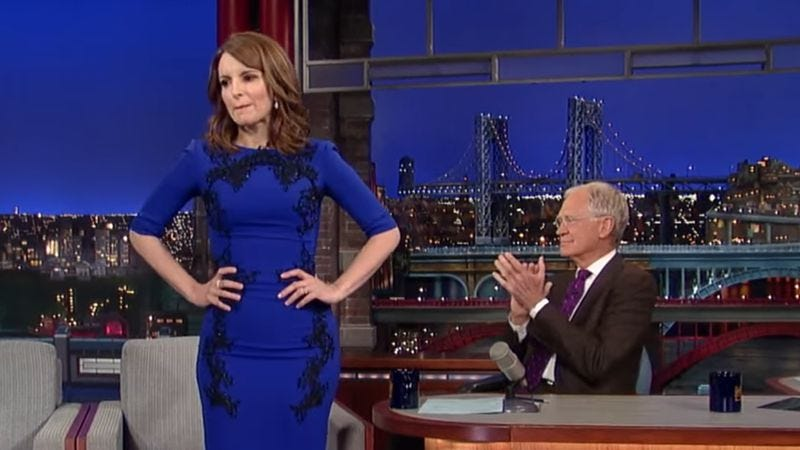 Tina Fey and David Letterman (Screenshot: YouTube)