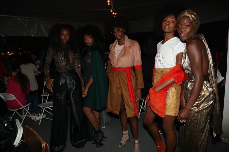 Models from Harlem's Fashion Row show (Johnny Nunez)