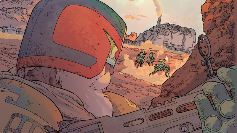 Illustration for article titled The Next Judge Dredd Comic Sounds Mad Max As Hell