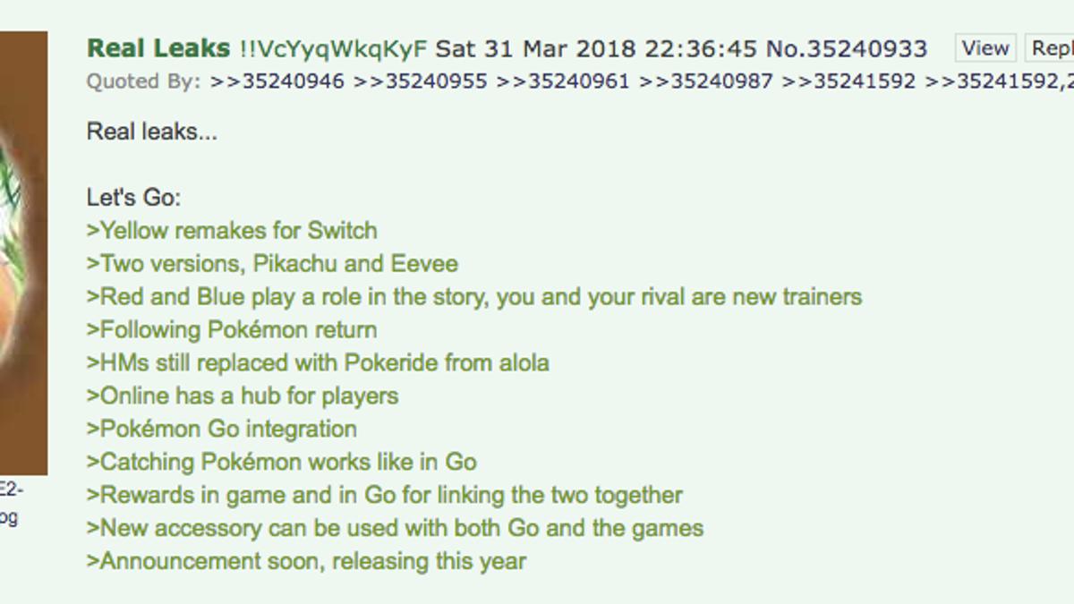 Fans Are Buzzing About A Possible Pokémon Switch Leak
