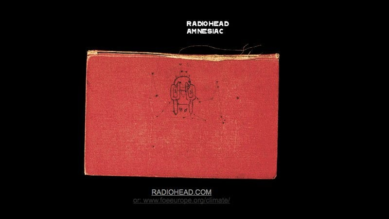 Radiohead.com homepage, circa 2001