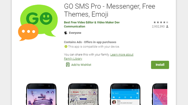 Delete 'Go SMS Pro' From Your Android Now