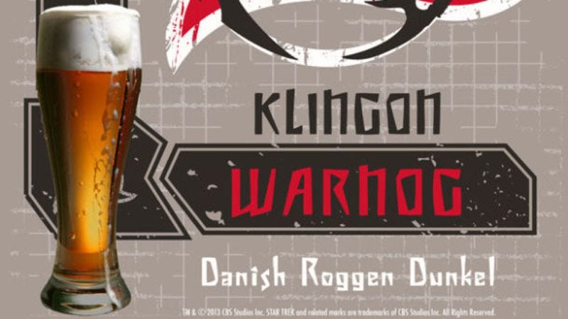 Illustration for article titled You can now boldly get drunk on official Klingon beer