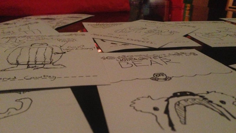 A Card Game Where You Draw Your Own Weird Monsters