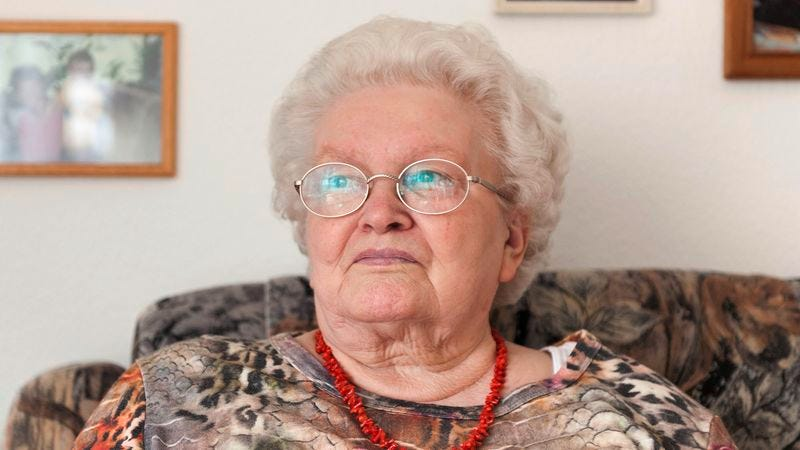 Illustration for article titled Family Fears Grandmother Aware Of Her Surroundings