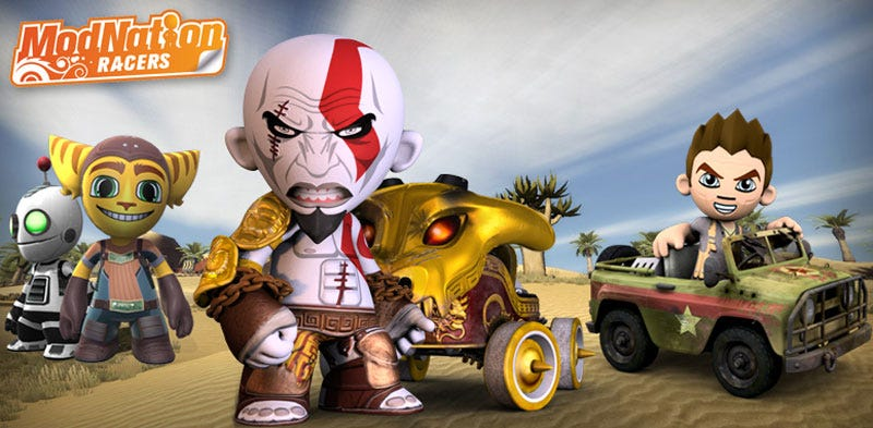 Illustration for article titled ModNation Dated, Kratos, Ratchet & Clank, And Nathan Drake Join The Race