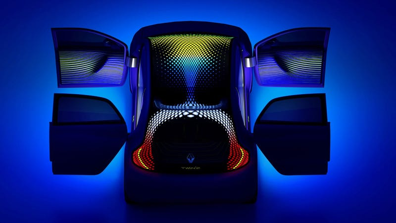 Illustration for article titled Ross Lovegrove's Renault Twin'Z Is Tripping Balls