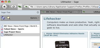 Illustration for article titled Sage-Too Feedreader Add-on Firefox-3 Ready