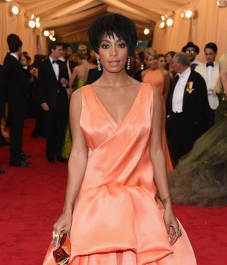 """Solange Knowles attends the """"Charles James: Beyond Fashion"""" Costume Institute Gala at the Metropolitan Museum of Art May 5, 2014, in New York City.Larry Busacca/Getty Images"""