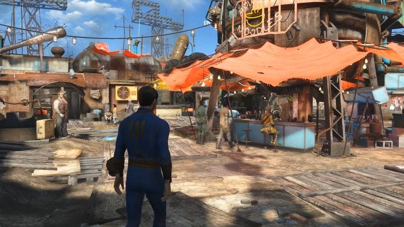 Diamond City in Fallout 4