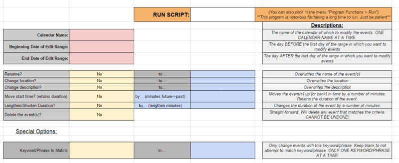Illustration for article titled Edit All Your Calendar Events at Once with This Google Script
