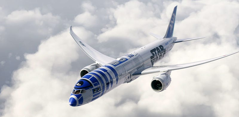 Illustration for article titled The Force Is Strong With This Star Wars Themed Dreamliner