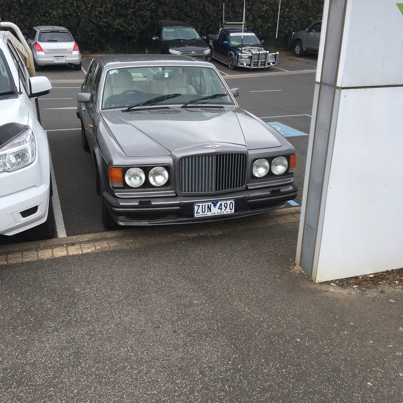 Illustration for article titled spotted this Bentley paying my car rego this morning.