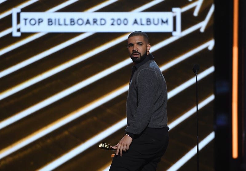 Drake accepts the Top Billboard 200 Album award for Views during the 2017 Billboard Music Awards at T-Mobile Arena on May 21, 2017, in Las Vegas.