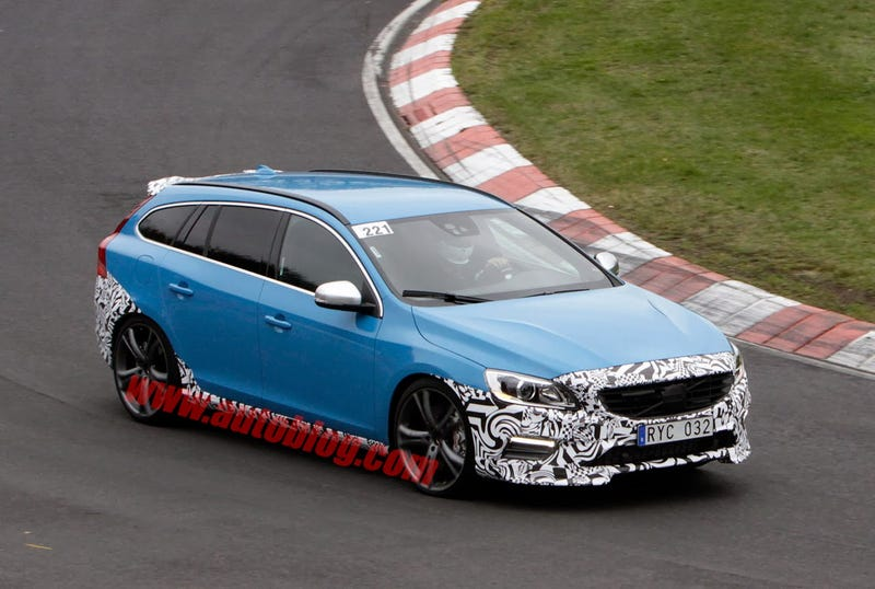 Illustration for article titled Volvo is developing a new V60 Polestar - spy shots