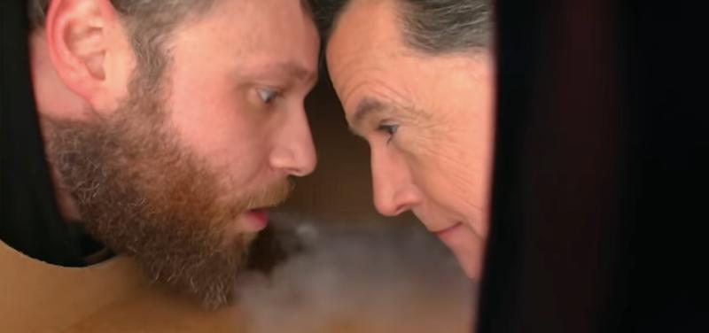 Seth Rogen, Stephen Colbert