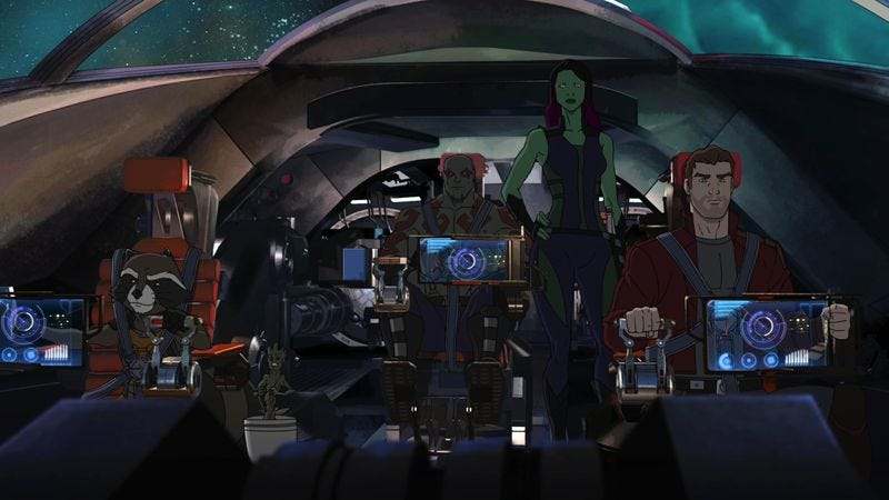 Illustration for article titled Guardians Of The Galaxy expands the MCU to animation, your TV
