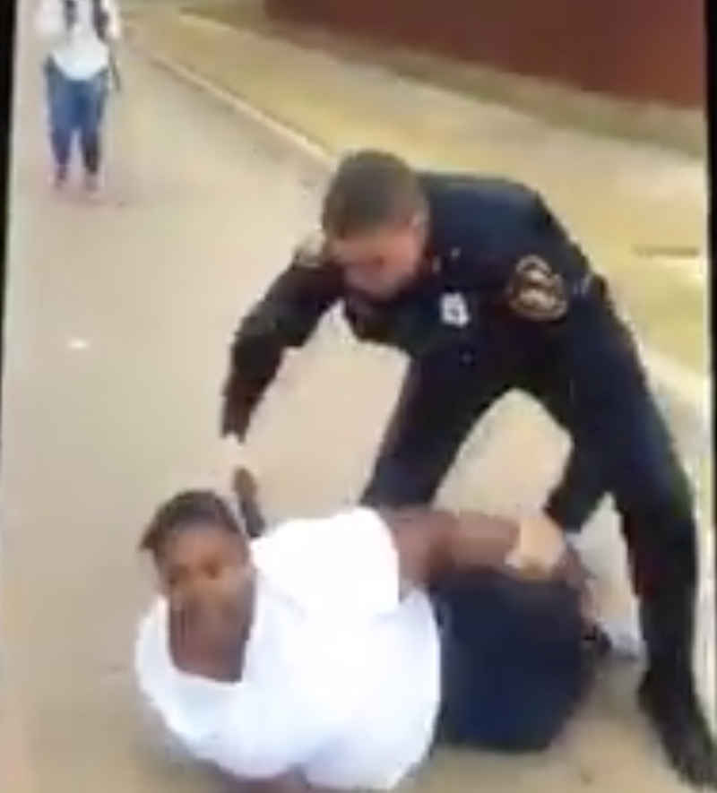 Footage of a hostile encounter between a Fort Worth, Texas, police officer and a black woman who reported that a white man had assaulted her 7-year-old childPorsha Craver via Facebook