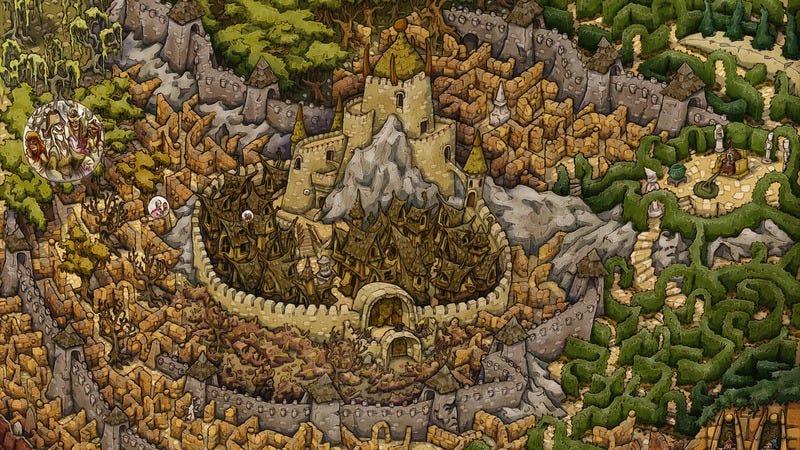 Labyrinth board detail (Image: Johnny Fraser-Allen/ArtStation)