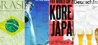 Illustration for article titled These Posters For Every World Cup Since 1930 Were Made By One Designer