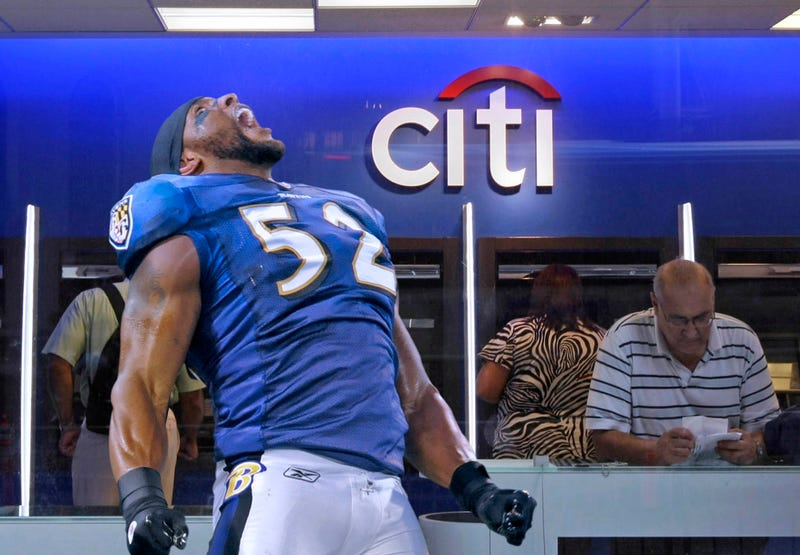 Illustration for article titled Ray Lewis Releases Primal Scream After Successfully Transferring Money To Checking Account