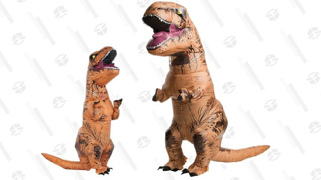 Why Wear a Mask When You Can Wear an Inflatable Dinosaur Costume for Just $38?