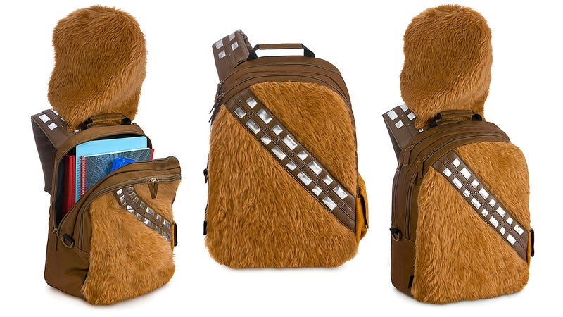 Illustration for article titled This Chewbackpack Is the Best Way To Carry Home Your Star Wars Treasures