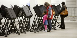 Early voters in Ohio (Christian Science Monitor/Getty Images)