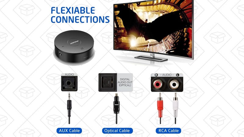This Bluetooth Receiver/Transmitter Includes Optical Audio Ports